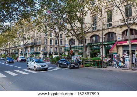 Street View At The Quai De La Megisserie In Paris, France
