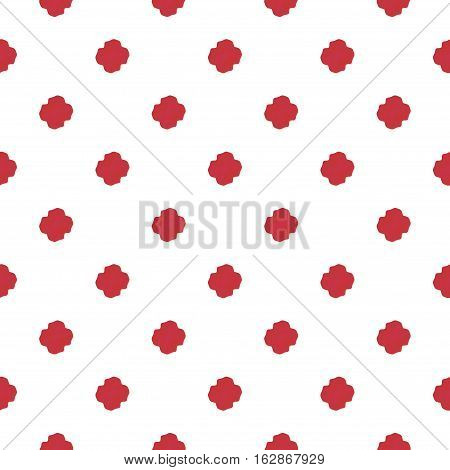 Red and white seamless shabby chic geometric pattern
