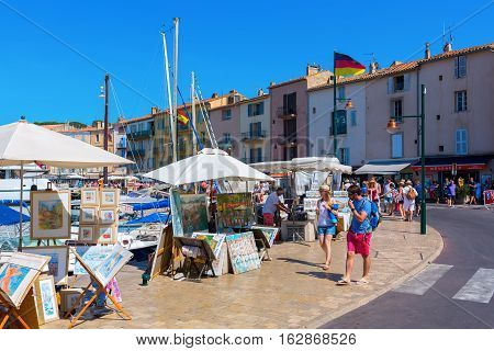 View At The Harbor Of Saint Tropez, South France