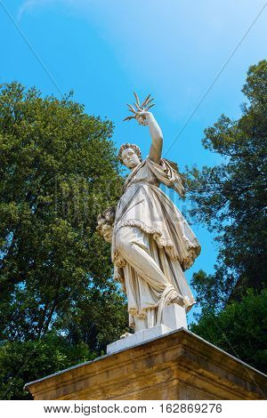 Sculpture In Boboli Gardens In Florence, Tuscany, Italy
