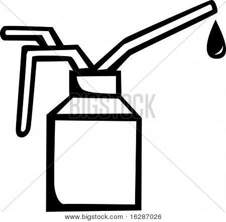 spout oil can applicator