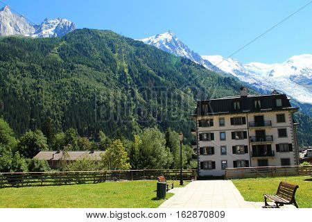 Chamonix Mont Blanc in the french Alps