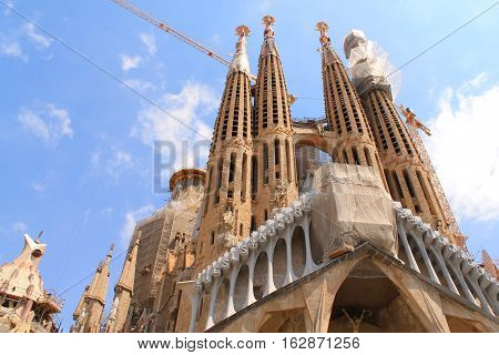 Segrada Familia in Barcelona,capital city of Catalonia