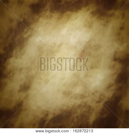 Grungy grunge beige dark framed graphic parchment paper aged background