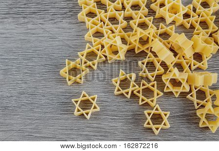 Jewish Pasta For Broth Buckwheat And Bow-tie , A Traditional  Dish