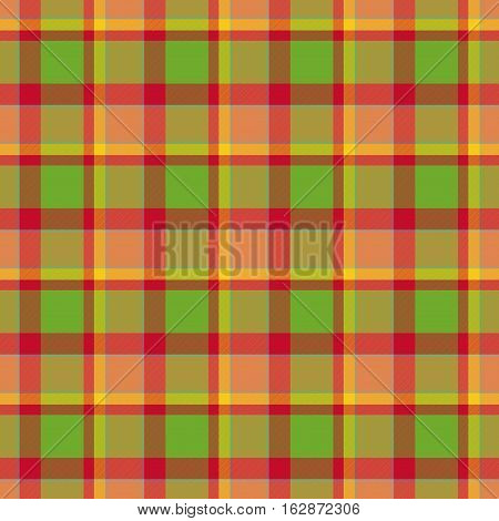 Green and red tartan vintage happy tablecloth pattern design