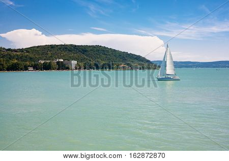The Sailboat on Lake Balaton in Hungary