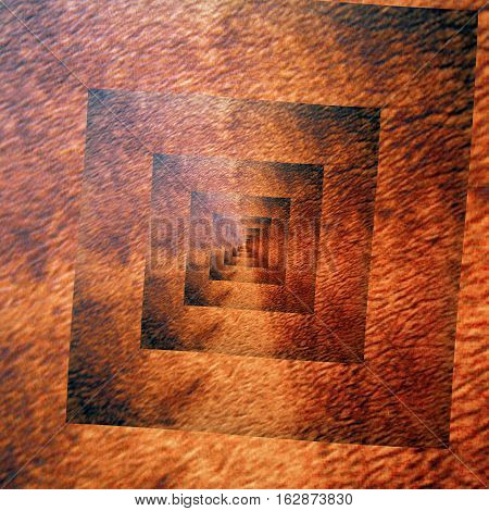 Angular square grunge grungy rusty brown spiral image background design