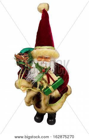 Santa Claus Father Frost Father Christmas. Isolated white background.