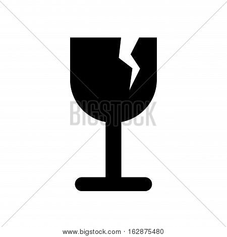 Fragile broken cup symbol icon vector illustration graphic design