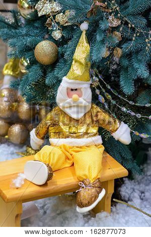 Santa Claus Father Frost Father Christmas. Christmas and New Year decorations.