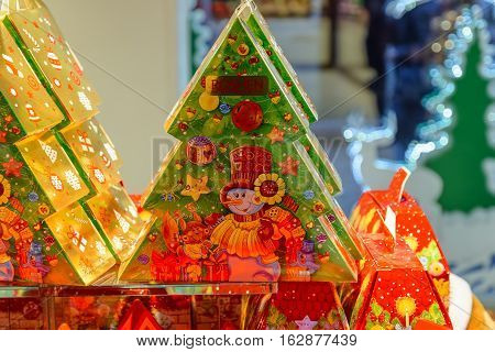 Ukraine Lviv - December 15 2016: Company store confectionery