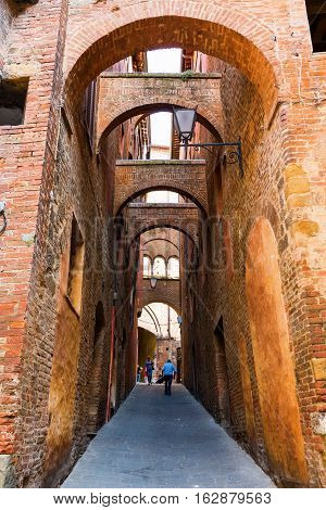 Alley In Siena, Tuscany, Italy