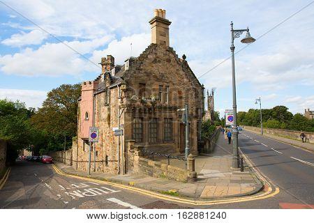 Bridge Over The Leith With Dean Village In Edinburgh, Scotland