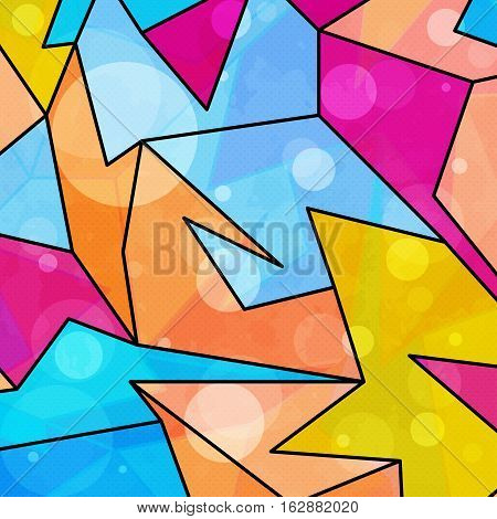 colorful geometric abstract pattern grunge texture vector royalty free stock illustration