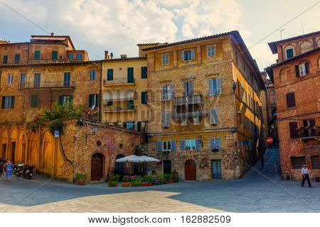 Architecture In Siena, Tuscany, Italy