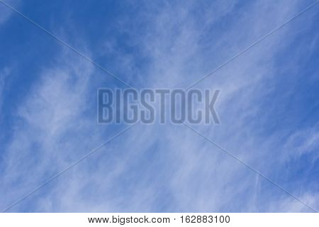 blue sky with tiny clouds , nature