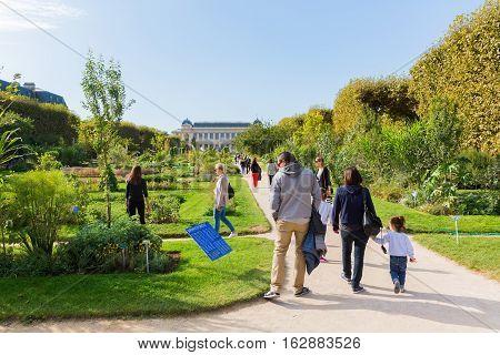 Jardin Des Plantes In Paris, France
