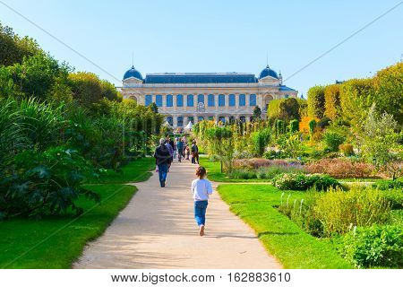 Jardin Des Plantes In Paris, France