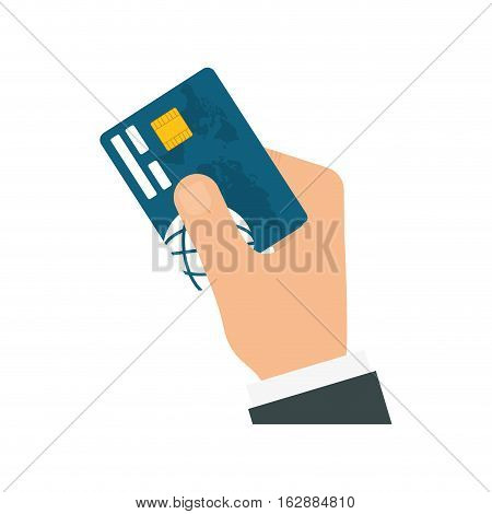 Bank credit card icon vector illustration graphic design
