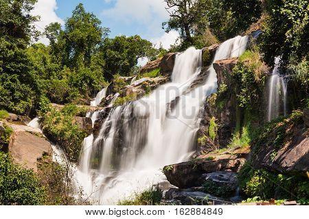 Mae-klang waterfall in Doi Inthanon national park Chiang Mai Thailand