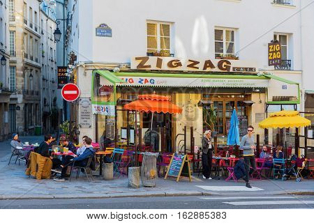Bistro In The Quartier Latin, Paris, France