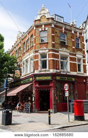 Restaurant In A Historic Building In Southwark, London, Uk