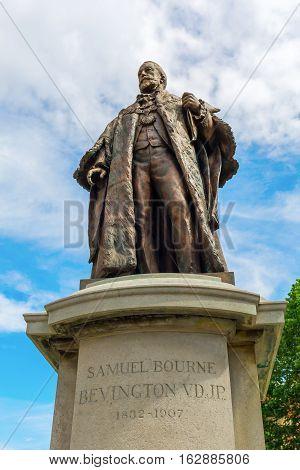 Statue Of Samuel Bourne Bevington In London, Uk