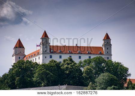 BRATISLAVA, SLOVAKIA - AUGUST, 2016: Bratislava Castle in Bratislava, Slovakia