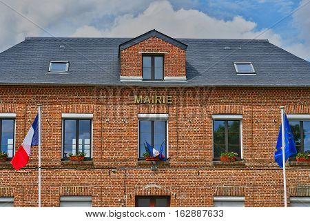 Sainte Marguerite sur Duclair France - june 22 2016 : the city hall