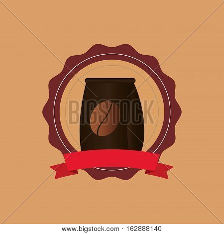 Coffee delicious drink icon vector illustration graphic design