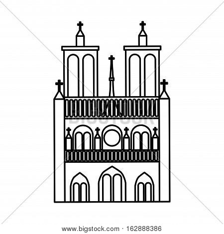 catedral church isolated icon vector illustration design
