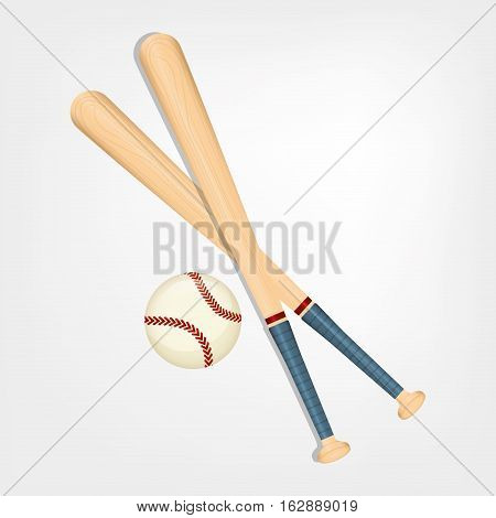 baseball bat ball icon vector illustration graphic design