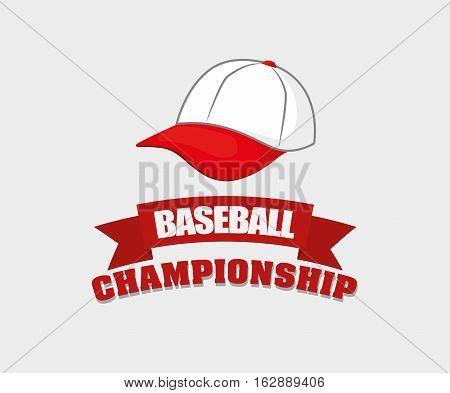 baseball championship hat icon vector illustration graphic design