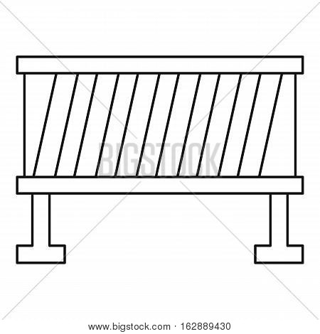 Outline illustration of road barrier vector icon for web
