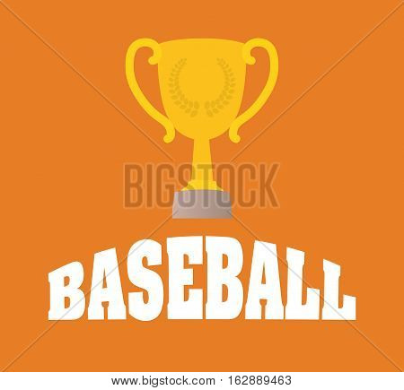 baseball trophy cup icon vector illustration graphic design