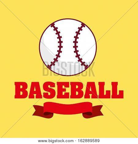 baseball sport ball icon vector illustration graphic design