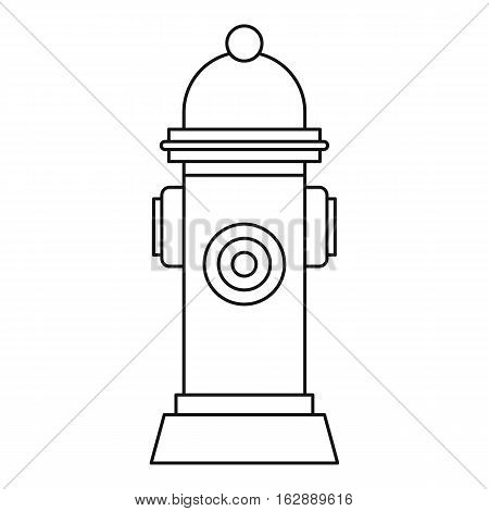 Outline illustration of fire hydrant vector icon for web