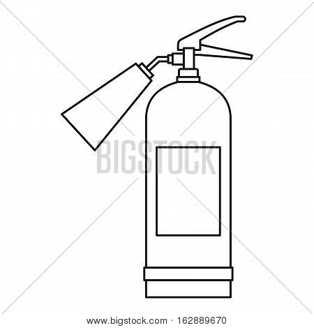 Outline illustration of fire extinguisher vector icon for web
