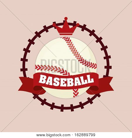 baseball sport ball icon vector illustration graphic design