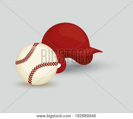 baseball ball hat icon vector illustration graphic design