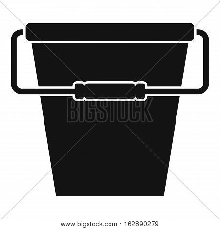 Simple illustration of empty bucket vector icon for web