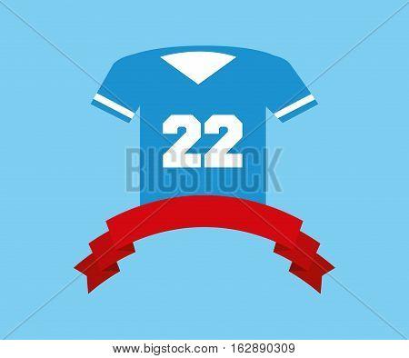 american football tshirt icon vector illustration graphic design