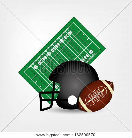 American football helmet ball icon vector illustration graphic design
