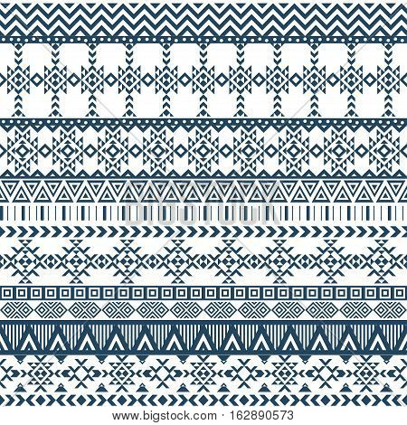 Ethnic seamless pattern with triangle and abstract geometric ornament. Tribal background texture. Native american navajo aztec pattern. Vector illustration hipster background.