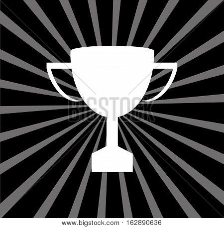 Championship trophy cup icon vector illustration graphic design