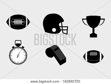 american football equipment icon vector illustration graphic design