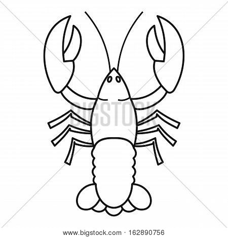 Outline illustration of crayfish vector icon for web
