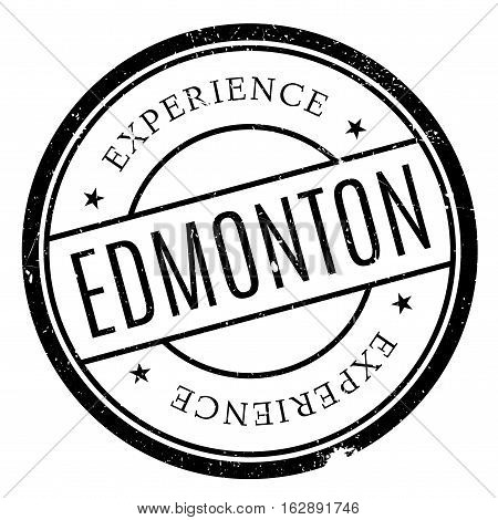 Edmonton stamp. Grunge design with dust scratches. Effects can be easily removed for a clean, crisp look. Color is easily changed.