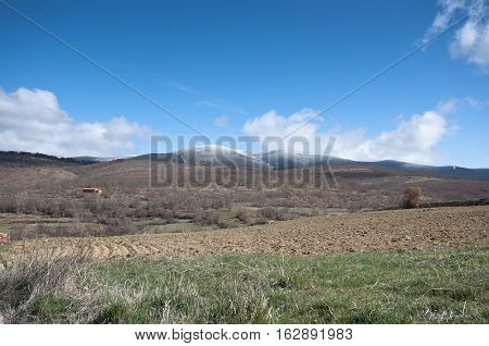 Countryside in San Millan de Lara, Burgos, Spain